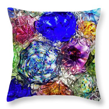 Vitreous Flora Throw Pillow