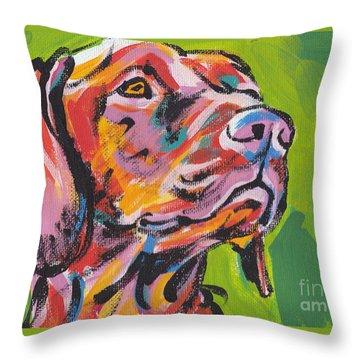 Viva La Vizsla Throw Pillow by Lea S