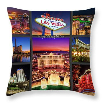 Viva Las Vegas Collection Throw Pillow