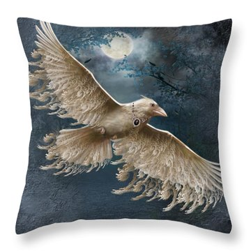 Viva The White Raven  Throw Pillow