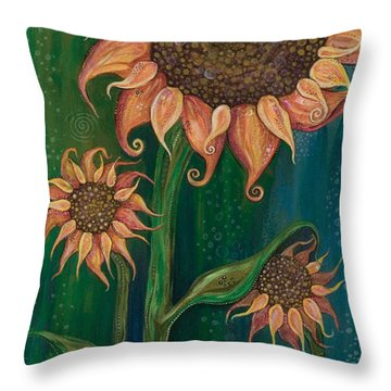 Vivacious Throw Pillow by Tanielle Childers