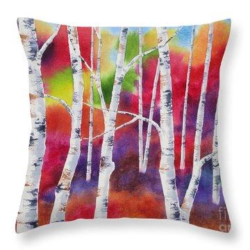 Vivid Autumn Throw Pillow by Deborah Ronglien