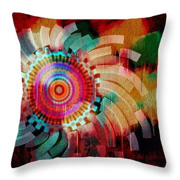 Vivid Circle Throw Pillow