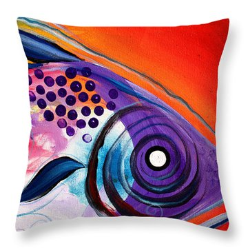 Vivid Fish Throw Pillow