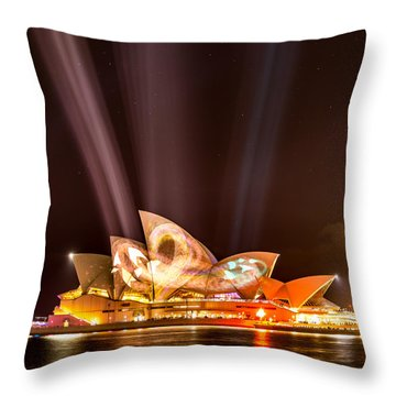 Vivid Opera House Throw Pillow