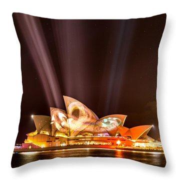 Vivid Opera House Throw Pillow