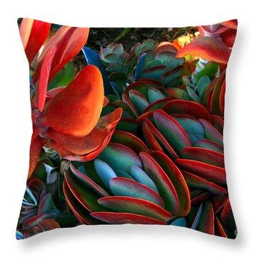 Vivid Paddle-leaf Succulent Throw Pillow