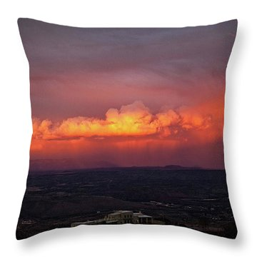 Vivid Verde Valley Sunset Throw Pillow by Ron Chilston