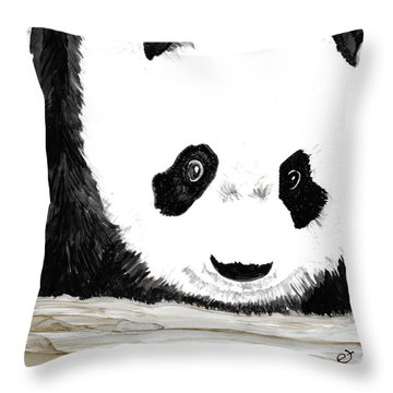 Vivi's Pet Panda Throw Pillow