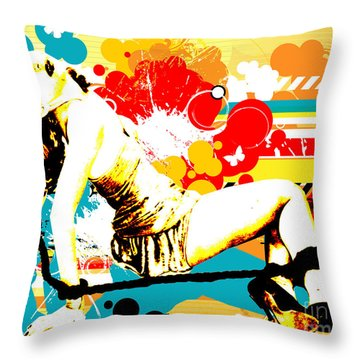 Vixen Subdued Throw Pillow by Chris Andruskiewicz