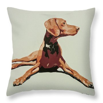 Vizsla 3 Throw Pillow