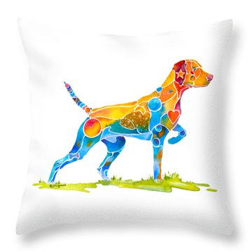 Vizsla On Point Throw Pillow