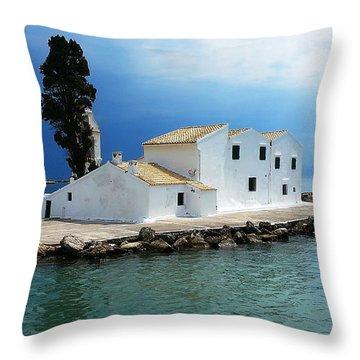 Vlachurna Monastry Throw Pillow