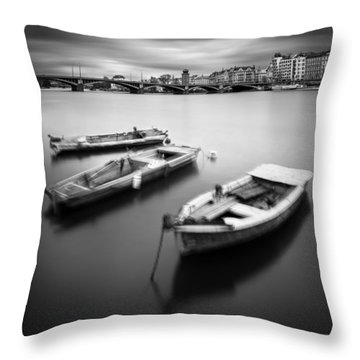 Vltava River During Autumn Time, Prague, Czech Republic Throw Pillow