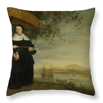 Voc Senior Merchant Throw Pillow by Aelbert Cuyp