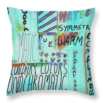 Vocabulary Throw Pillow