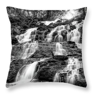 Vogel State Park Waterfall Throw Pillow