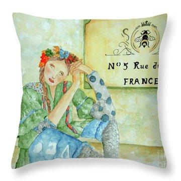 Vogue Vagabond Throw Pillow