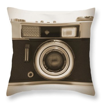 Voigtlander Rangefinder Camera Throw Pillow by Mike McGlothlen