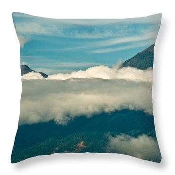 Volcan De Agua Antiqua Gutemala Erupting 8 Throw Pillow by Douglas Barnett