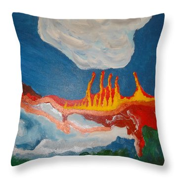 Volcanic Action Throw Pillow