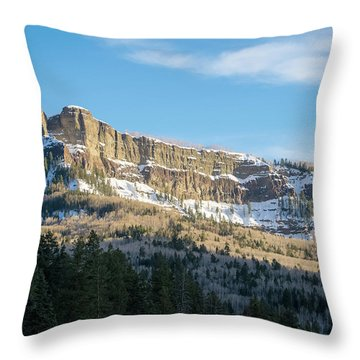 Volcanic Cliffs Of Wolf Creek Pass Throw Pillow