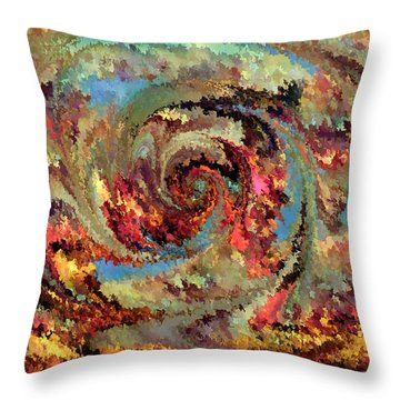 Volcanic Eruption Throw Pillow by Rafi Talby