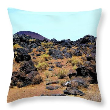 Volcanic Field Throw Pillow