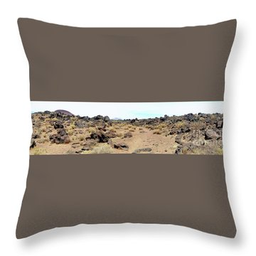 Volcanic Field Panorama Throw Pillow