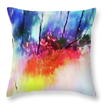 Volcanic Fissures Throw Pillow