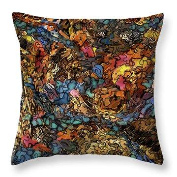 Volcanic Flow Throw Pillow