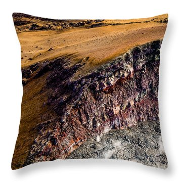 Throw Pillow featuring the photograph Volcanic Ridge II by M G Whittingham