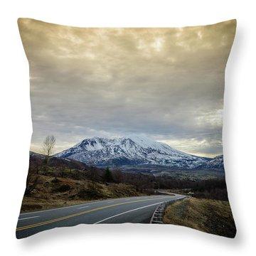 Volcanic Road Throw Pillow