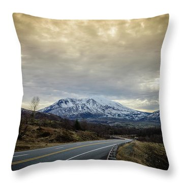 Volcanic Road Throw Pillow
