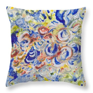 Volcanic Sea Acrylic/water Throw Pillow