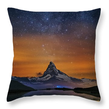 Volcano Fountain Throw Pillow