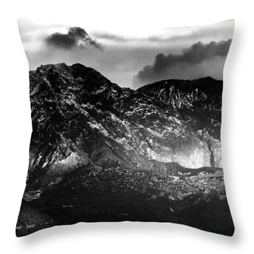 Throw Pillow featuring the photograph Volcano by Hayato Matsumoto