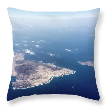 Volcano Island Throw Pillow