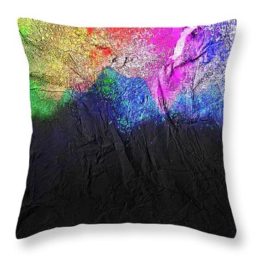 Throw Pillow featuring the painting Volcano by Mark Taylor