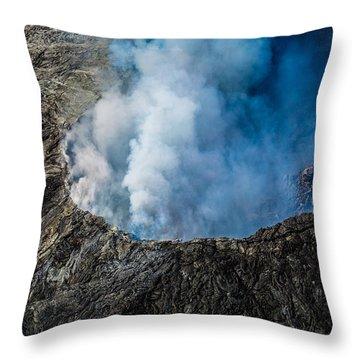 Another View Of The Kalauea Volcano Throw Pillow