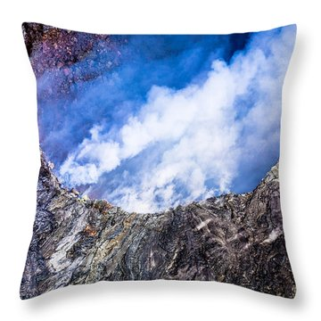 Throw Pillow featuring the photograph Volcano by M G Whittingham