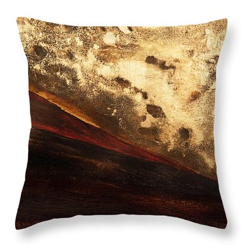 Volcano Sunrise Throw Pillow by Tara Thelen - Printscapes