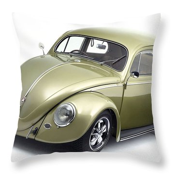 Volkswagen Beetle Throw Pillow