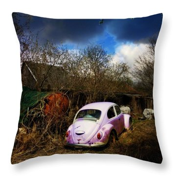 Volkswagen Graveyard Throw Pillow