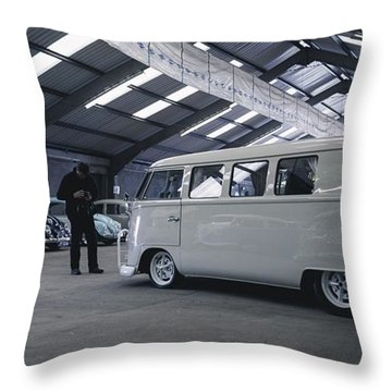Volkswagen Microbus Throw Pillow