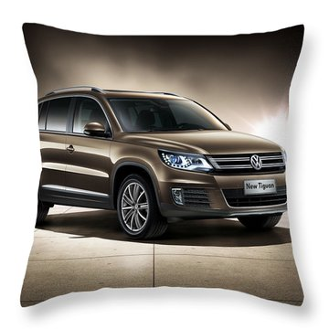 Volkswagen Tiguan Throw Pillow