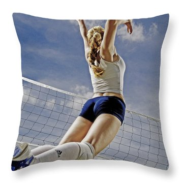 Volleyball Throw Pillow by Steve Williams