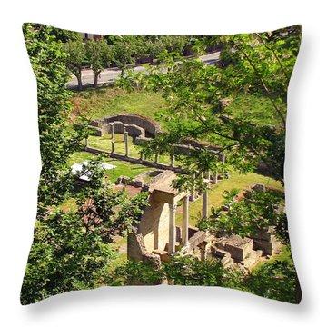 Volterra's Roman Ruins Throw Pillow