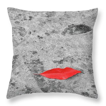 Throw Pillow featuring the photograph Voluminous Lips by Dale Kincaid