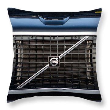 Volvo Blk And Silver Throw Pillow